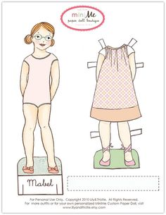 Lily & Thistle: Freebies! Paper Doll Printable