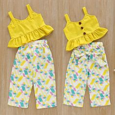 Color: As picture show. Quality is the first with best service. What You Get We will try our best to reduce the risk of the custom duties. girl US Toddler Infant Kids Baby Girl Top T-shirt+Long Pants Outfits Set Clothes Set Kids Frocks, Frocks For Girls, Dresses Kids Girl, Girls Dresses Sewing, Baby Girl Frocks, Girls Summer Clothes, Sewing Baby Clothes, Dresses Dresses, Baby Girl Dress Patterns
