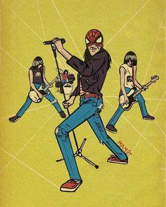 Music Hits, Sound Of Music, Beatles, Joey Ramone, Rock Poster, We Will Rock You, Live Rock, Rockn Roll, Punk Art