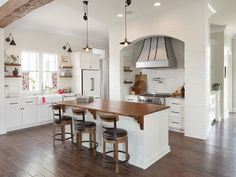 The kitchen is bright and open to other areas of the
