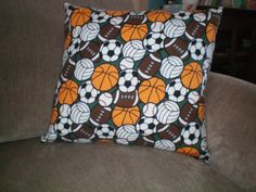 1 Novelty Pillow  Sports  All Sports Theme  by NoveltyPillows4All, $22.95