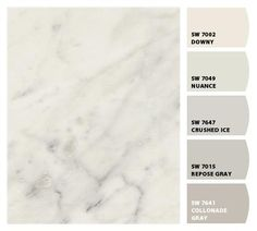 Formica® Laminate Carrara Bianco with great paint palettes!