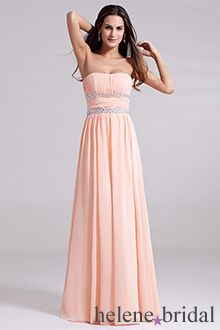 Short Light Pink Chiffon Bridesmaid Dress Simple by Tinadress ...