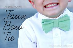 Just Another Day in Paradise: A Little Man's Faux Bow Tie (Tutorial)