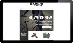 BIKE SHOP / branding & web by Line Otto, via Behance