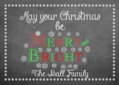 Christmas Words, Personalized Christmas Gifts, Merry And Bright, Word Art, Chalkboard Quotes, Facebook, Image, Personalised Christmas Gifts