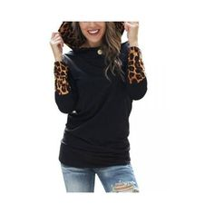 Long Sleeve Leopard Women Casual Sweatshirt Hoodie ($11) ❤ liked on Polyvore featuring tops, hoodies, as picture, hoodies & sweatshirts, hooded pullover, long hooded sweatshirt, hoodie sweatshirts, long hoodie and long sleeve hoodie