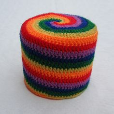 Rolling Around: 6-colour Spiral - Pattern by Woolly Thoughts