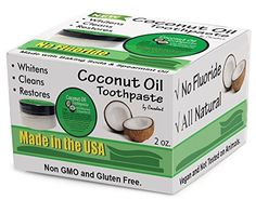 #dental #Cocodent is the world's first commercial #Coconut Oil Toothpaste with Baking Soda and Spearmint Oil. This unique natural combination cleans and whitens t...