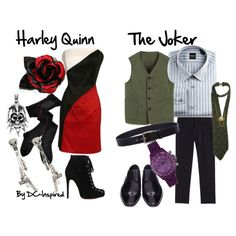 """Harley Quinn & The Joker"" by dc-fashion on Polyvore"