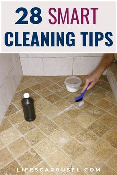 28 Smart Cleaning Tips for Every Room of Your Home. Cleaning hacks for the bathroom, kitchen, bedroom, living room and toys! Easy cleaning tips (for lazy people) for home! Time to get organized and clean your home. Speed Cleaning, Household Cleaning Tips, Deep Cleaning Tips, House Cleaning Tips, Diy Cleaning Products, Spring Cleaning, Cleaning Hacks, Cleaning Schedules, Cleaning Checklist