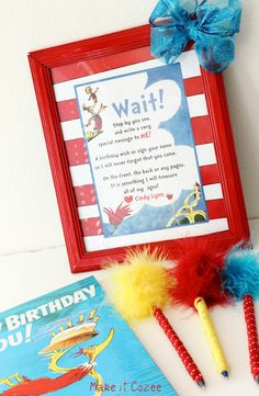 Birthday Book Printable love cat in the hat!