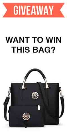 Want to win this beautiful tote bag? It's very easy. Click to enter: