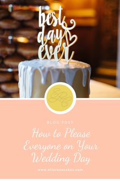 Pleasing everyone one is a difficult task, and your wedding day should totally be about you and your other half BUT here are 5 ways you can try to please more people on your big day! Wedding Cake Maker, Wedding Cakes, Pleasing Everyone, Rose Cake, Drip Cakes, Buttercream Cake, Best Day Ever, On Your Wedding Day, 5 Ways