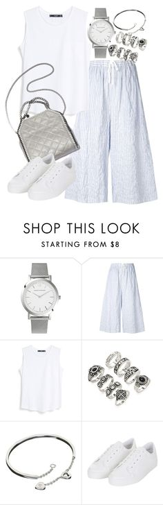 """""""Untitled #19433"""" by florencia95 ❤ liked on Polyvore featuring Larsson & Jennings, Baja East, MANGO, Forever 21, Cartier and Topshop"""