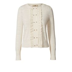 Orla Kiely | USA | clothing | Knitwear | Cotton Broderie Cardigan (16SKCBS212) | white