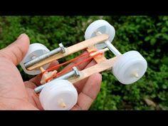 How to Make a mini Rubber band Car - YouTube