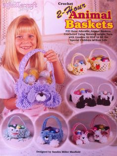 Crochet 2Hour Animal Baskets pattern The by cardinalhouse on Etsy