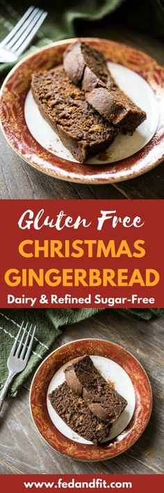 This gluten free gingerbread loaf is spiced perfectly with ginger and molasses, and would make a perfect treat for Christmas morning or seasonal cookie gifting! Gluten Free Baking, Vegan Baking, Gluten Free Desserts, Vegan Gluten Free, Gluten Free Recipes, Paleo Sweets, Gf Recipes, Dairy Free, Healthy Recipes