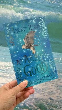 Magical book and majestic ocean.