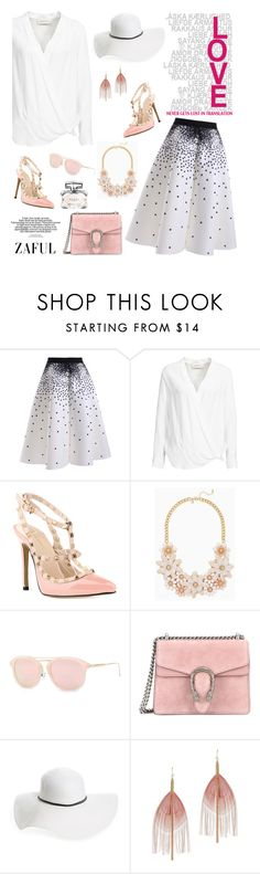 """Zaful 9"" by sabinakopic ❤ liked on Polyvore featuring By Malene Birger, Gucci, David & Young and Serefina"