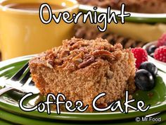 Wake up to a freshly baked coffee cake with this easy overnight breakfast recipe. Sprinkle this breakfast casserole with cinnamon and pecans for more taste in every bite!