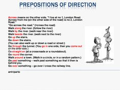 Prepositions of direction #learnenglish ""