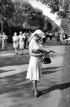 Gorky Park, Moscow, USSR, 1954, by Henri Cartier-Bresson. Cartier-Bresson was in Moscow in 1954 to prepare a book documenting daily life under communism.