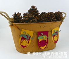 Spellbinders Autumn Paper Bunting by Lisa Fulmer. Add a touch of color and texture to your fall decorating!