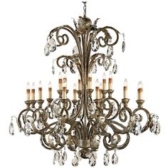 Currey and Company Promenade Italian Silver Chandelier ($6,740) ❤ liked on Polyvore featuring home, lighting, ceiling lights, chandeliers, silver chandelier, italian lighting, currey company chandelier, silver ceiling lights and silver lights