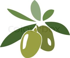 Stock vector of 'Olive branch symbol. Vector illustration'