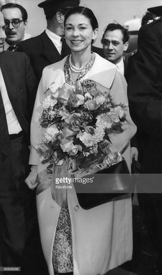 British ballerina Dame Margot Fonteyn (1919 - 1991) arrives at London Airport on her return from New York, 24th April 1959. She has just been arrested and expelled from Panama after her husband, Panamanian diplomat Roberto Arias was implicated in an attempted coup against the government.