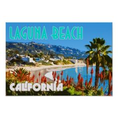 Shop Laguna Beach Vintage Travel Poster created by AKLawrence. Going On Holiday, Holiday Fun, Vintage Travel Posters, Vintage Postcards, Vintage California, Southern California, Beach Posters, Travel Tours, Travel Ideas