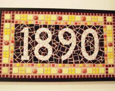 4-Digit Custom Mosaic House Numbers