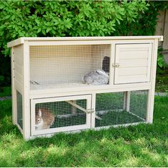 Small Animal Cages- Small Animal Cages Found it at Wayfair – EcoChoice Columbia Rabbit Hutch - Rabbit Cages Outdoor, Indoor Rabbit House, Rabbit Hutch Indoor, Rabbit Hutch Plans, Rabbit Hutches, Bunny Cages, Raising Rabbits, Small Animal Cage, Pet News
