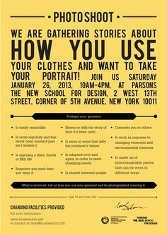 You are invited! Share a story of how you use your clothes in New York on 26 January 2013