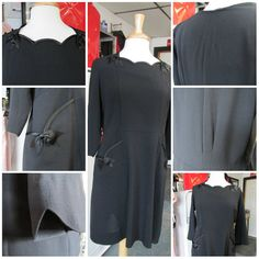 Vintage 1920s Black Dress with Bow Details by ReuttersGeneralStore, $195.00