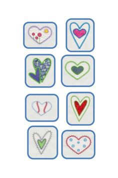 Here's a heartfelt creation by VStitch Designs. These applique hearts were created with the AccuQuilt GO! Queen of Hearts. This set includes 22 different designs. https://www.accuquilt.com/shop/go-queen-of-hearts-embroidery-designs-by-v-stitch-designs.html