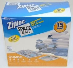 Seasons shifting? Store last season's clothes in vacuum-sealed space bags.