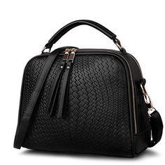 Shoulder Bags Spring Weave Tassel PU Leather Ladies Casual B1150 Handbags