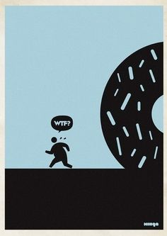 """Argentina-based Minga Creative - Studio came out with a funny and creative posters idea. They called the project """"WTF?"""" and after gaining success had to even make an addition of WTF Creative Illustration, Illustration Art, Thing 1, Beautiful Posters, Silk Art, Creative Pictures, Creative Studio, Creative Design, Urban Art"""