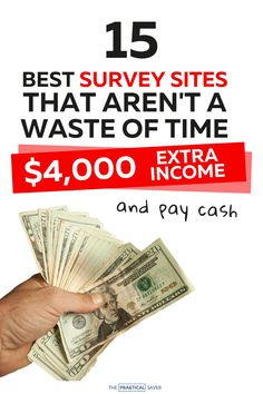 Need some extra cash? 15 Best Survey Sites that Pay Cash Only | The Practical Saver | Now you can make extra cash fast with your phone. Easy ideas to work from home and make money on the side. I share my best tips and tricks to score legit cash from surveys. You need to try these money hacks to help pay off debt, save money, and make money now. #makemoney #surveysites #paidsurveys #easymoney #workfromhome Hobbies That Make Money, Make Money Now, Money Fast, Make Money From Home, Surveys That Pay Cash, Online Surveys For Money, Make Money Online, Extra Cash, Extra Money