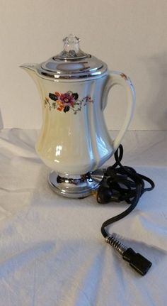 Robeson Royal Rochester Electric Percolator Coffee Pot