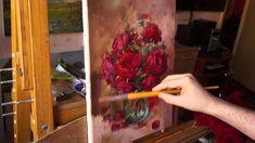 Розы (этюд). Живопись маслом. Process of creating oil painting.