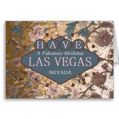HAVE A Fabulous Birthday Las Vegas Card