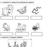 avaliacao de portugues para 1 ano desenhos
