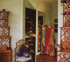 The Duchess of Windsor's dressing room #closet #dressing_room #coat_tree