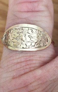 Handmade Antique 9ct rose gold signet ring by SheffieldGoldsmiths