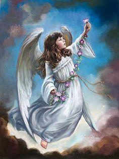 ANGELI CON IL PENNELLO: Gli Angeli bambini di Sandra Kuck