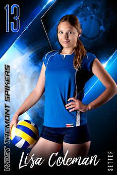 Our player banner photo template is designed with a print ratio. The player banner photo template is a multi-layered photoshop file. Perfect for all sports. Volleyball Poses, Volleyball Senior Pictures, Baseball Pictures, Volleyball Players, Senior Photos, Senior Portraits, Team Photos, Sports Photos, Team Poster Ideas